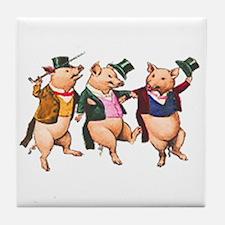 Three Little Pigs Tile Coaster