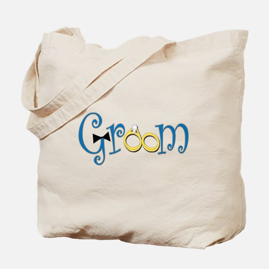 Groom Tie and Rings Tote Bag