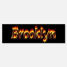 Brooklyn Flame Bumper Bumper Bumper Sticker