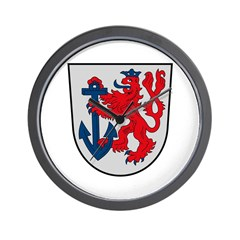 Dusseldorf Coat of Arms Wall Clock