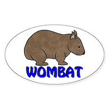 Wombat Logo III Oval Decal