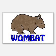 Wombat Logo III Rectangle Decal