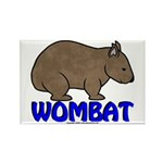 Wombat Logo III Rectangle Magnet (10 pack)
