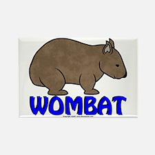 Wombat Logo III Rectangle Magnet