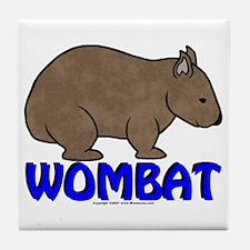 Wombat Logo III Tile Coaster