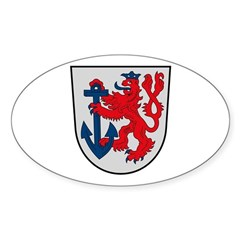 Dusseldorf Coat of Arms Oval Decal