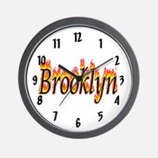 Brooklyn Flame Wall Clock