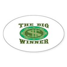 The Big Winner Oval Decal