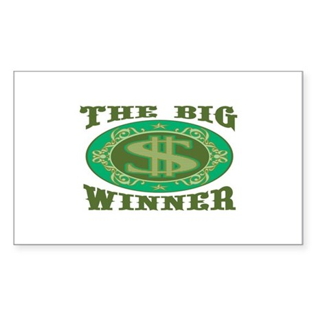 The Big Winner Rectangle Sticker