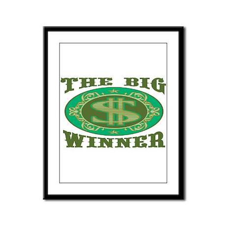 The Big Winner Framed Panel Print