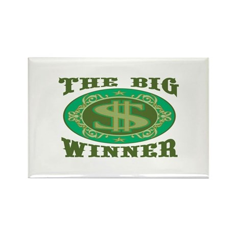 The Big Winner Rectangle Magnet
