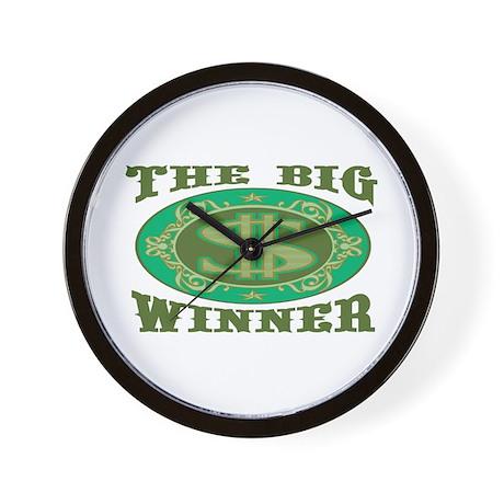 The Big Winner Wall Clock