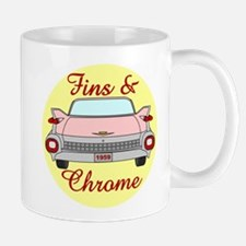 Tailfins and Chrome, 1959 Cadillac in pink Mugs
