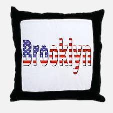 Patriotic Brooklyn Throw Pillow