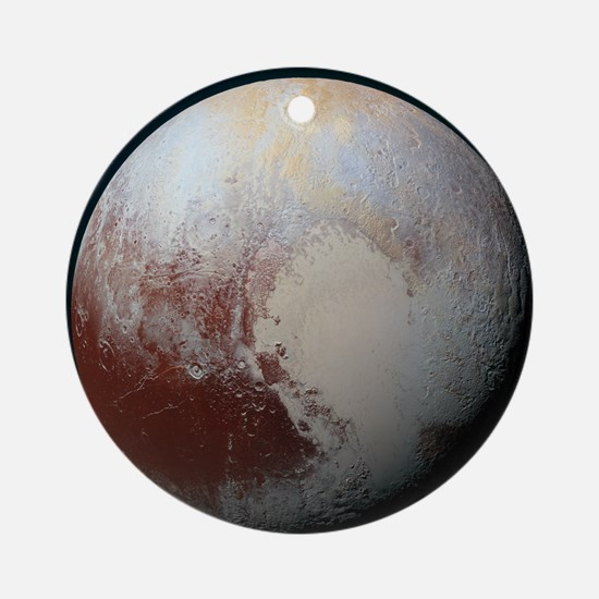 Pluto - The Largest Dwarf Planet Round Ornament