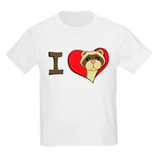 I heart ferrets Kids T-Shirt