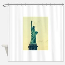 Statue of Liberty Good Tidings for Shower Curtain