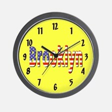 Patriotic Brooklyn Wall Clock