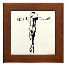 Crucified Skin Framed Tile
