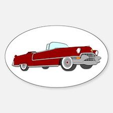 Classic Cadillac Sticker (Oval)