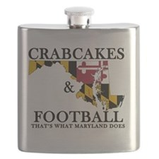 Old School Crabcakes & Football Flask
