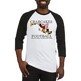 Crabcakes and football Baseball Tees