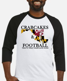 Old School Crabcakes & Football Baseball Jersey