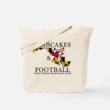 Old School Crabcakes & Football Tote Bag