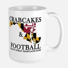 Old School Crabcakes & Football Mug