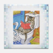 Cat 535 Tile Coaster