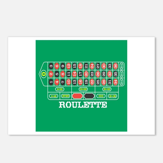Roulette Table Postcards (Package of 8)