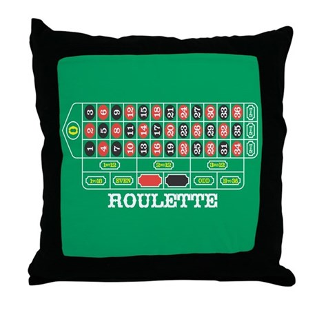 Roulette Table Throw Pillow
