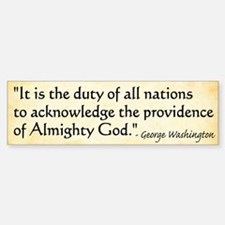 George Washington - Faith Bumper Bumper Bumper Sticker