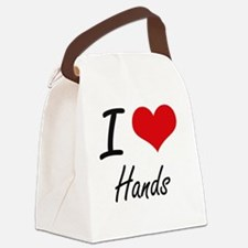 I love Hands Canvas Lunch Bag
