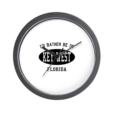 I'd Rather Be in Key West, Fl Wall Clock