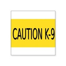 "Cute K9 Square Sticker 3"" x 3"""
