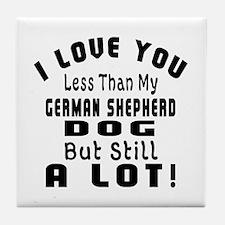 German Shepherd dog designs Tile Coaster