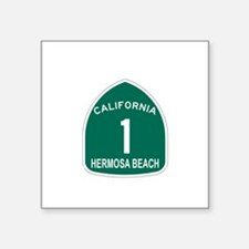 "Unique California route 1 Square Sticker 3"" x 3"""