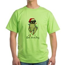 Bah HumPug Christmas dog T-Shirt