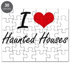 I love Haunted Houses Puzzle