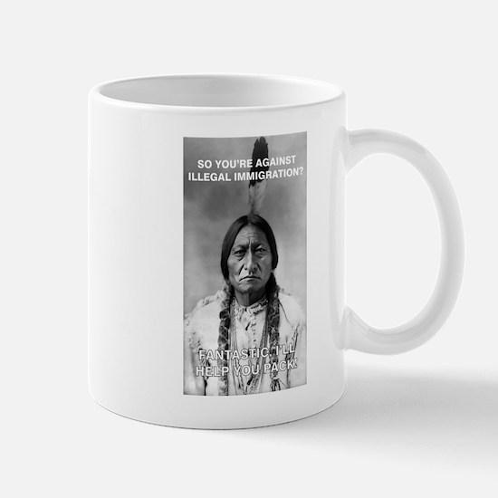 illegal immigration Mugs