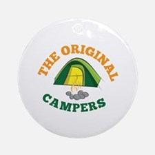 Original Campers Round Ornament