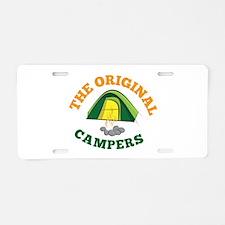 Original Campers Aluminum License Plate