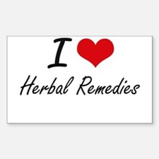 I love Herbal Remedies Decal