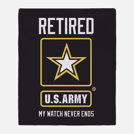 US Army Watch Never Ends Throw Blanket