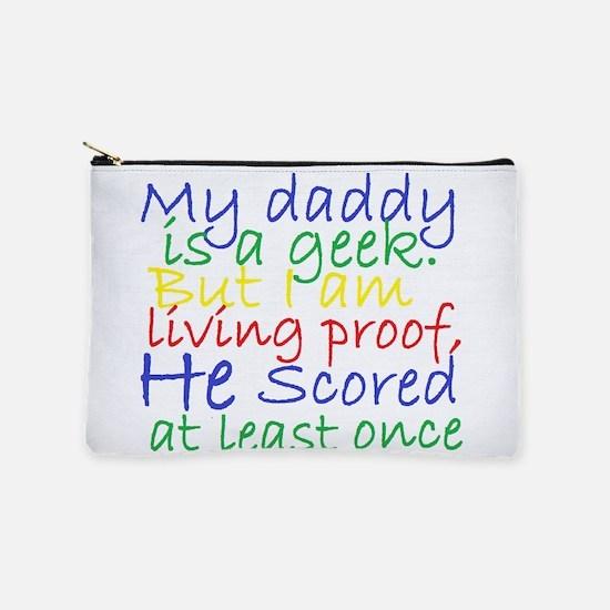Daddy Geek humor Makeup Bag