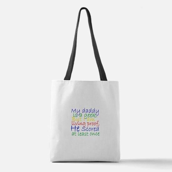 Daddy Geek humor Polyester Tote Bag