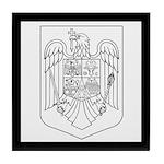 Romanian COA (BW) Tile Coaster
