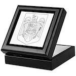 Romanian COA (BW) Keepsake Box
