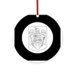 Romanian COA (BW) Ornament (Round)